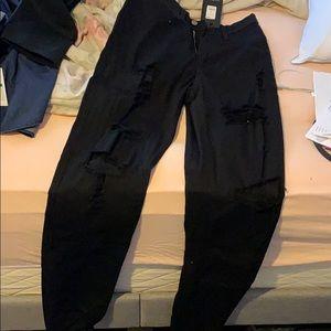 Fashion nova ripped high waisted